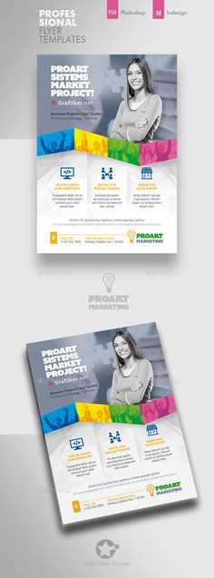 Buy Marketing Flyer Templates by grafilker on GraphicRiver. Marketing Flyer Templates Fully layered INDD Fully layered PSD 300 Dpi, CMYK IDML format open Indesign or later C. Flyer Layout, Brochure Layout, Brochure Design, Flyer Design, Marketing Flyers, Sale Flyer, Event Flyers, Business Flyer Templates, Social Media Template