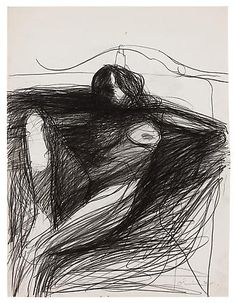 Nathan Oliveira, Untitled Nude, 1972  Graphite on paper  26 x 20 inches