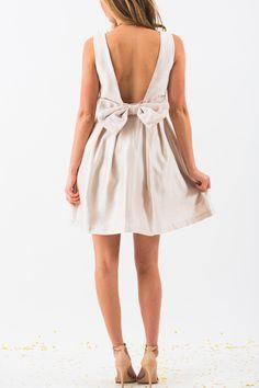 Bridal Shower Dress, Rehearsal Dinner Dress, Bow Back Dress – Morning Lavender