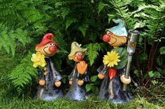 Eine Auswahl an verschiedenen Gartenwichteln...