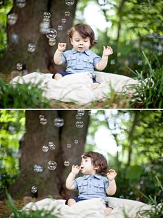 Bubble Filled Child Session. I have a newly found love for bubbles in photos.