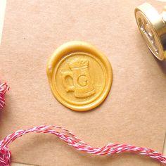 Wax Seal Stamp Initial Monogram Beer Jar Stamps Custom by artcarf