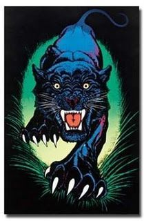 Image result for black panther black light poster