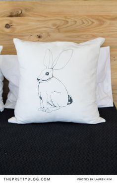 Bunny pillow at The Ceramic Factory in Linden Johannesburg