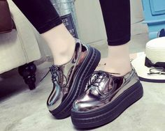 7e1970d5fd7 Aliexpress.com   Buy Fashion Patent Leather Shoes Woman Handmade Designer  Ladies Loafers Flat Platform Shoes For Women Creepers Casual Flats from  Reliable ...