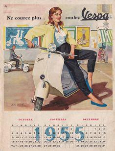 Vespa models - My Ideas & Suggestions Scooter Moto, Vespa Ape, Piaggio Vespa, Vespa Lambretta, Vintage Vespa, Vintage Ads, Vespa Girl, Scooter Girl, Motor Scooters