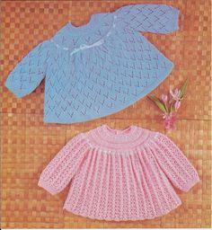 PDF Knitting Pattern Vintage Knitted Baby Angel por georgie8109