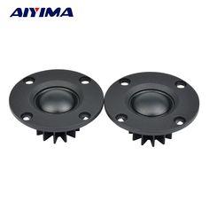 "Aiyima 2pcs Tweeter 1""inch 6Ohm 30W Dome Silk Film Tweeter Hifi Treble Speaker Audio Loudspeaker With Heatsink #Affiliate"