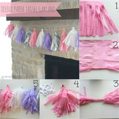 DIY Tissue Paper Garland...so easy & cute!