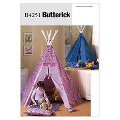 Visit the pattern department in store to browse our patterns available in store.Package includes patterns and instructions to make Tepee A,B