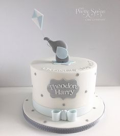 Elephant Baby Shower Cake, Elephant Cakes, Baby Shower Cakes For Boys, Baby Boy Cakes, Baby Boy Christening Cake, Boys First Birthday Cake, Baby Birthday Cakes, Gateau Baby Shower, Sugar Cake