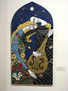 "Mosaic Art Exhibition – ""Inspired By…"" Contemporary Mosaics and the Historical Tradition – Dupont Gallery – Fredericksburg, Virginia Mosaic Bottles, Mosaic Glass, Glass Art, Stained Glass, Mosaic Diy, Mosaic Ideas, Mosaic Portrait, Mosaic Artwork, Art Diy"