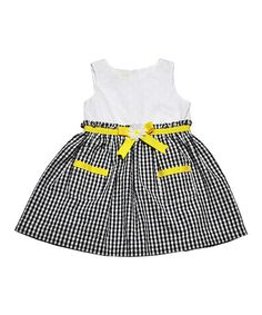 Take a look at this Black & Yellow Bow Dress - Infant, Toddler & Girls on zulily today! Kids Girls, Toddler Girls, Infant Girls, Girly Girls, Dress With Bow, Sewing For Kids, Black N Yellow, Girls Dresses, Baby Dresses