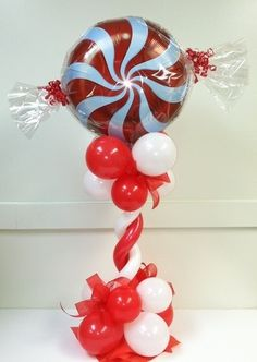 Christmas Party Decor and Christmas Balloon Bouquets ~ Tulsa, Oklahoma