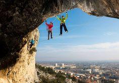 Via Ferrata - rock climbing - 84300 Cavaillon, colline St Jacques - climbing equipment mandatory - guides and equipment rental on reservation