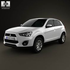 Mitsubishi Outlander Sport (RVR / ASX) 2012 3d model from humster3d.com. Price: $75