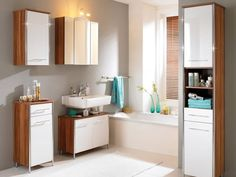 Floating sink with counter space underneath. Room beneath the vanity for scale, etc.  Modern Style Small Bathroom Design