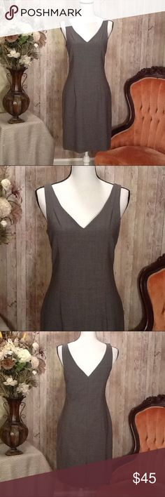Dress Sheath by Theory Size 6 Classic Gray Classy dress by Theory, size 6, sheath style, lightweight, fully lined, classic gray color, gently worn, like-new condition, perfect for business or casual wear, interviews, etc. Approx length from top to bottom of dress, 37 inches. Refer to the brand Theory for proper size and fit guide for size 6 dress. Theory Dresses