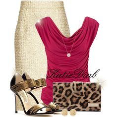 """Gold&Pink"" by katiediab on Polyvore"
