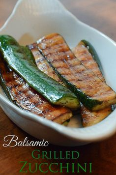 Balsamic Grilled Zucchini by From Valeries Kitchen, via Flickr