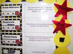 Tech Beyond 4 Walls: Hollywood Classroom Theme Ideas & Decor Classroom Setup, Classroom Design, Kindergarten Classroom, Classroom Organization, Hollywood Theme Classroom, Teaching Career, Teaching Ideas, 6th Grade Reading, Job Chart
