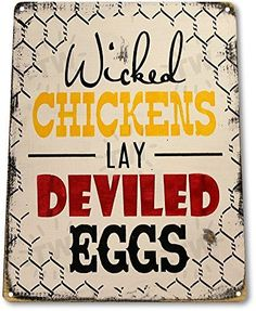 "TIN SIGN ""Chicken Eggs"" Pen Coop Eggs Decor Kitchen Cotta... https://smile.amazon.com/dp/B01BIF0K4G/ref=cm_sw_r_pi_dp_DbOFxbFP0D6SE"