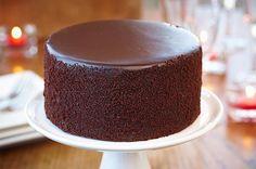 Flat topped chocolate cake
