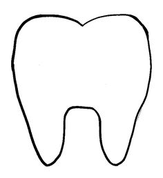 happy tooth pattern or coloring page { free printable } # ...