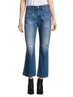 LEVI'S Kick Flared Medium Wash Distressed Jeans. #levis #cloth #jeans