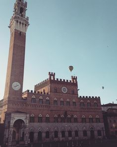 Hot air balloons in the sky of #Siena. A picture by @rachelecassaro (on Instagram).