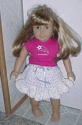 RUFFLED DOLL SKIRT for 18 inch Doll Crochet Pattern - Free Crochet Pattern Courtesy of Crochetnmore.com