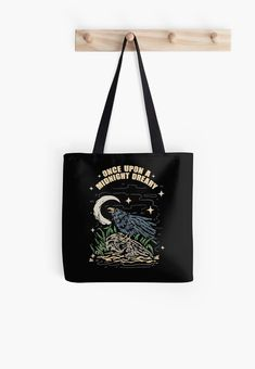 Once upon a midnight dreary, while I pondered, weak and weary • Millions of unique designs by independent artists. Find your thing. Kids Outfits, Cool Designs, Finding Yourself, Pouch, Reusable Tote Bags, Tapestry, Artists, Awesome, Unique