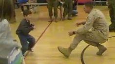 marine son with cerebral palsy - YouTube