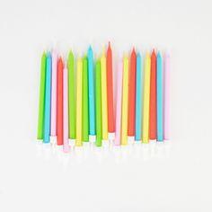 20 bougies colorées