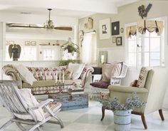 French Shabby Chic Decorating Ideas   37 Dream Shabby Chic Living Room Designs - Decoholic