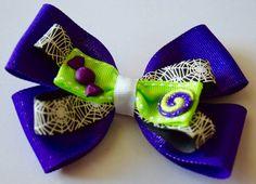 Girls Halloween Candy Swirl Hair Bow Girls by RachelsHairBowtique