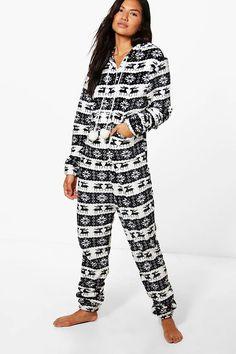 Beatrice Reindeer & Snowflake Onesie Disney Onesies, Night Suit, Sleepwear Women, Nightwear, Reindeer, Boohoo, Lounge Wear, Jumpsuit, One Piece