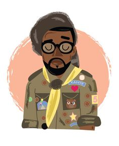 Kanye Wes Anderson illustration by Phil Howell. LOL