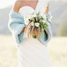 i love knitting and wedding dresses...