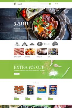 Grocery Store Responsive MotoCMS Ecommerce Template #65065