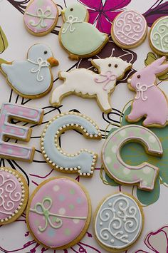 Baby shower inspired cookies : Beautifully hand Iced biscuits | Juliet Stallwood Cakes & Biscuits
