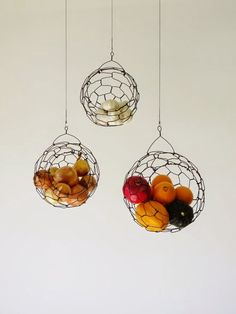 Casa - Decoração - Reciclados: Fruteiras Suspensas - Criatividade para Cozinhas Pequenas ou Não!