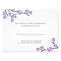 ShoppingPurple Cherry Blossom RSVP Cardswe are given they also recommend where is the best to buy