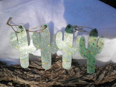 Texas Lights Catus Ornaments by InspriationWorkshop on Etsy, $8.00