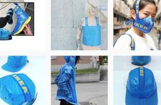 Habillé comme un sac avec le cabas bleu d'Ikea · Paris Match.be