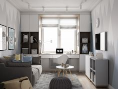 Ideas For Bedroom Small Apartment Inspiration Guest Rooms Home Office Design, Home Office Decor, Home Decor, Small Apartment Interior, Home Interior, One Bedroom, Bedroom Decor, Bedroom Small, Decor Room