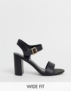 Find the best selection of New Look Wide Fit block heeled sandals in black. Shop today with free delivery and returns (Ts&Cs apply) with ASOS! Wedding Guest Shoes, Wedding Heels, Block Sandals, Block Heels, Asos, Informal Wedding Dresses, Cooking Classes For Kids, Heeled Mules, Heeled Sandals
