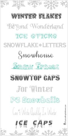 Best Winter Fonts.