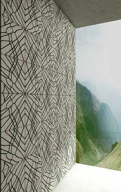 Concrete and moss wall tile: geometric pattern ORTO LIVING IVANKA