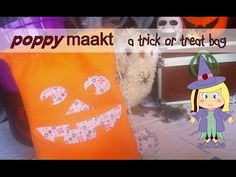 Poppy makes… a trick or treat bag. In this video tutorial I will explain how you can make this drawstring trick or treat bag. On my blog: poppymaakt.blogspot.nl you can download the 2 printable patterns for free.  Have fun! Poppy maakt… snoep of ik schiet tas. In deze instructie video zal ik je uitleggen hoe je deze snoep of ik schiet drawstring tas kunt maken. Op mijn blog: poppymaakt.blogspot.nl kun je de 2 printable patronen gratis downloaden. Veel plezier!